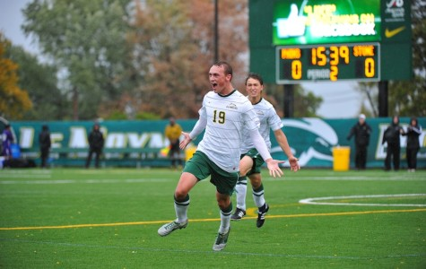 Men's soccer split home matches