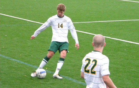 Men's soccer overcomes Merrimack in the quarters, but loses in the semis