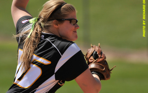 Softball wins six of eight on the road