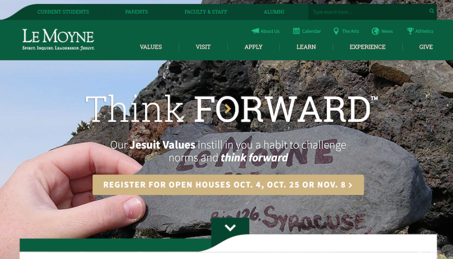 Le Moyne's New Website, Yay or Nay?