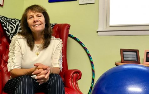 Maria Randazzo, Director of the Wellness Center for Health & Counseling/Substance Abuse Specialist, in her office where she has created a relaxing atmosphere on Nov. 1.