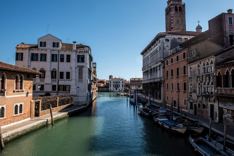 Venice, Italy in March 2020 [GIACOMO COSUA—NURPHOTO VIA GETTY IMAGES]