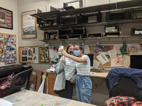 Students working on Goudys film [Photo provided by Alyssa Goudy]